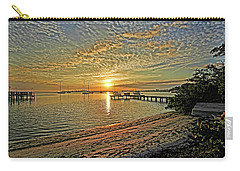 Carry-all Pouch featuring the photograph Mornings Embrace by HH Photography of Florida