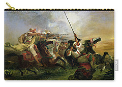 Moroccan Horsemen In Military Action Carry-all Pouch