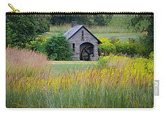 Carry-all Pouch featuring the photograph Morris Arboretum Mill In September by Bill Cannon