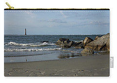 Carry-all Pouch featuring the photograph Morris Lighthouse by Sandy Keeton