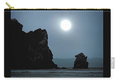 Morro Bay Sea Rocks And Sun Carry-all Pouch