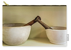 Carry-all Pouch featuring the photograph Mortar And Pestle by Paul Freidlund