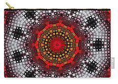 Carry-all Pouch featuring the digital art Mosaic Kaleidoscope 2 by Shawna Rowe