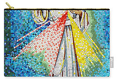Mosaic Of Christ Rising Carry-all Pouch by Joseph Frank Baraba
