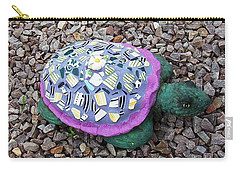 Carry-all Pouch featuring the ceramic art Mosaic Turtle by Jamie Frier