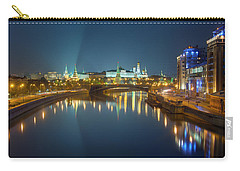 Carry-all Pouch featuring the photograph Moscow Kremlin At Night by Alexey Kljatov