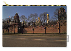 Carry-all Pouch featuring the photograph Moscow Kremlin In Winter by Travel Pics