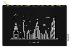 Moscow Skyline Travel Poster Carry-all Pouch