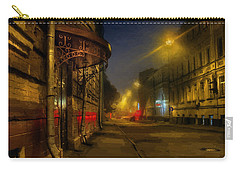 Carry-all Pouch featuring the photograph Moscow Steampunk Sketch by Alexey Kljatov