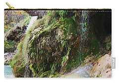 Carry-all Pouch featuring the photograph Moss And Waterfalls by Sheila Brown