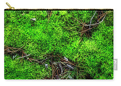 Carry-all Pouch featuring the photograph Moss On The Hillside by Mike Eingle