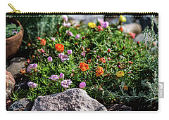 Moss Rose In The Rocks #1 Carry-all Pouch