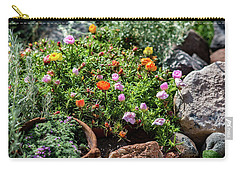 Moss Rose In The Rocks #2 Carry-all Pouch