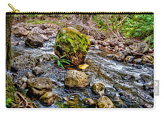 Carry-all Pouch featuring the photograph Mossy Boulder by Christopher Holmes