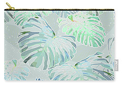 Mossy Faded Monstera Carry-all Pouch