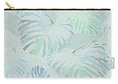 Mossy Faded Monstera Light Carry-all Pouch