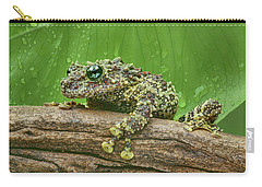 Carry-all Pouch featuring the photograph Mossy Frog by Nikolyn McDonald