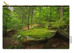 Carry-all Pouch featuring the photograph Mossy Rocks In Little Creek Park by Shane Holsclaw