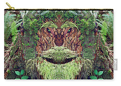 Carry-all Pouch featuring the photograph Mossman Tree Stump by Martin Konopacki