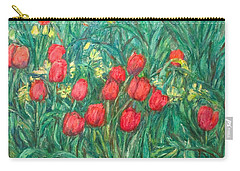 Carry-all Pouch featuring the painting Mostly Tulips by Kendall Kessler