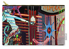 Motel Variations Night Of The Flyng Coyote Carry-all Pouch by Ann Tracy