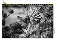 Moth And Flowers Carry-all Pouch