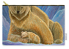 Mother And Baby Polar Bears Carry-all Pouch