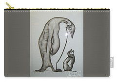 Mother And Child Penguins Carry-all Pouch