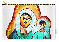 Carry-all Pouch featuring the painting Mother And Child by Ramona Matei