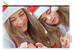 Mother And Daughter Doing Christmas Sweets Carry-all Pouch