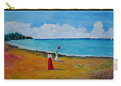 Carry-all Pouch featuring the painting Mother And Daughter by Marilyn  McNish