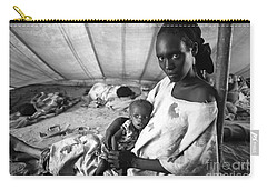 Mother And Her Starving Child In A Tuberculosis Tent, African Di Carry-all Pouch
