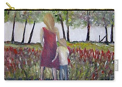 Carry-all Pouch featuring the painting Mother And Son by Marilyn  McNish