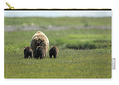 Mother And Three Cubs Carry-all Pouch