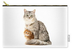 Mother Cat And Ginger Kitten Carry-all Pouch