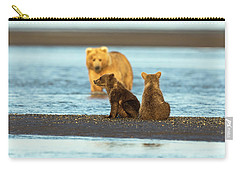 Mother Gazing At Her Cubs Carry-all Pouch