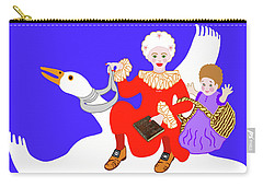 Mother Goose On Her Flying Goose Carry-all Pouch by Marian Cates