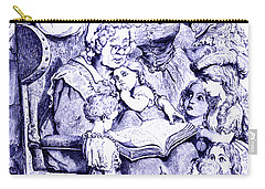 Mother Goose Reading To Children Carry-all Pouch by Marian Cates