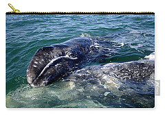 Mother Grey Whale And Baby Calf Carry-all Pouch