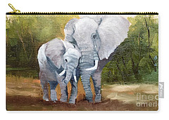 Mother Love Elephants Carry-all Pouch