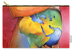 Carry-all Pouch featuring the painting Mother Of All Colors by Christopher Marion Thomas