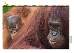 Mother Orangutan With Baby Carry-all Pouch