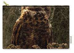 Mother Owl Posing Carry-all Pouch by Jane Axman