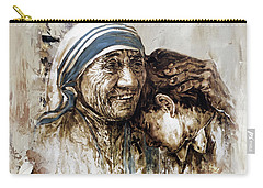Carry-all Pouch featuring the painting Mother Teresa  by Gull G