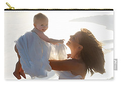 Mother With Baby In Pure Joy, Marin County, California Carry-all Pouch