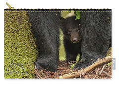 Mothers Day Bear Card Carry-all Pouch by Everet Regal