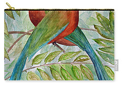 Motmots Carry-all Pouch by Patricia Beebe