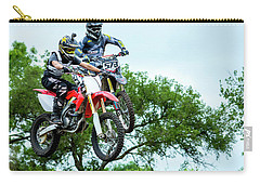 Carry-all Pouch featuring the photograph Motocross Battle by David Morefield