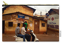 Motorbike Crossing Goa Times Newstand Carry-all Pouch