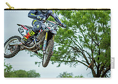 Carry-all Pouch featuring the photograph Motocross Aerial by David Morefield